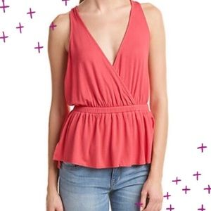 NWT Free People 'Heat Wave' tank in coral size M